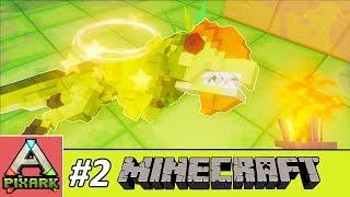 PIXARK - Minecraft Ark #2 - Taming Dilophosaurus - Bắt Được Trẻ Trâu Phun Độc