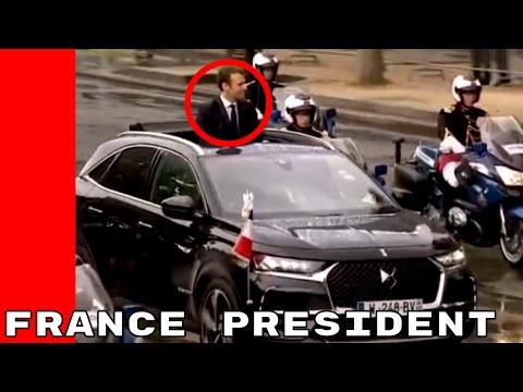 DS 7 Crossback Presidential with France President Emmanuel Macron