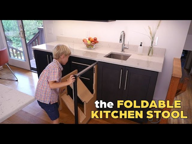 Wow This Kitchen Step Stool Folds In And Out By Hideaway Solutions Youtube