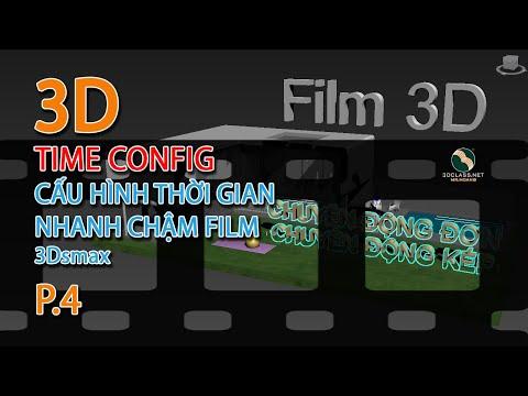 Bài 4 làm phim 3D cấu hình thời gian tốc độ nhanh chậm trong 3dsmax, học 3dsmax online