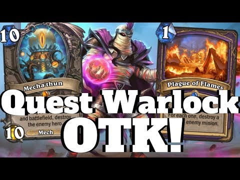 Plotting and Twisting! Quest Warlock OTK Combo!  [Hearthstone Game of the Day]