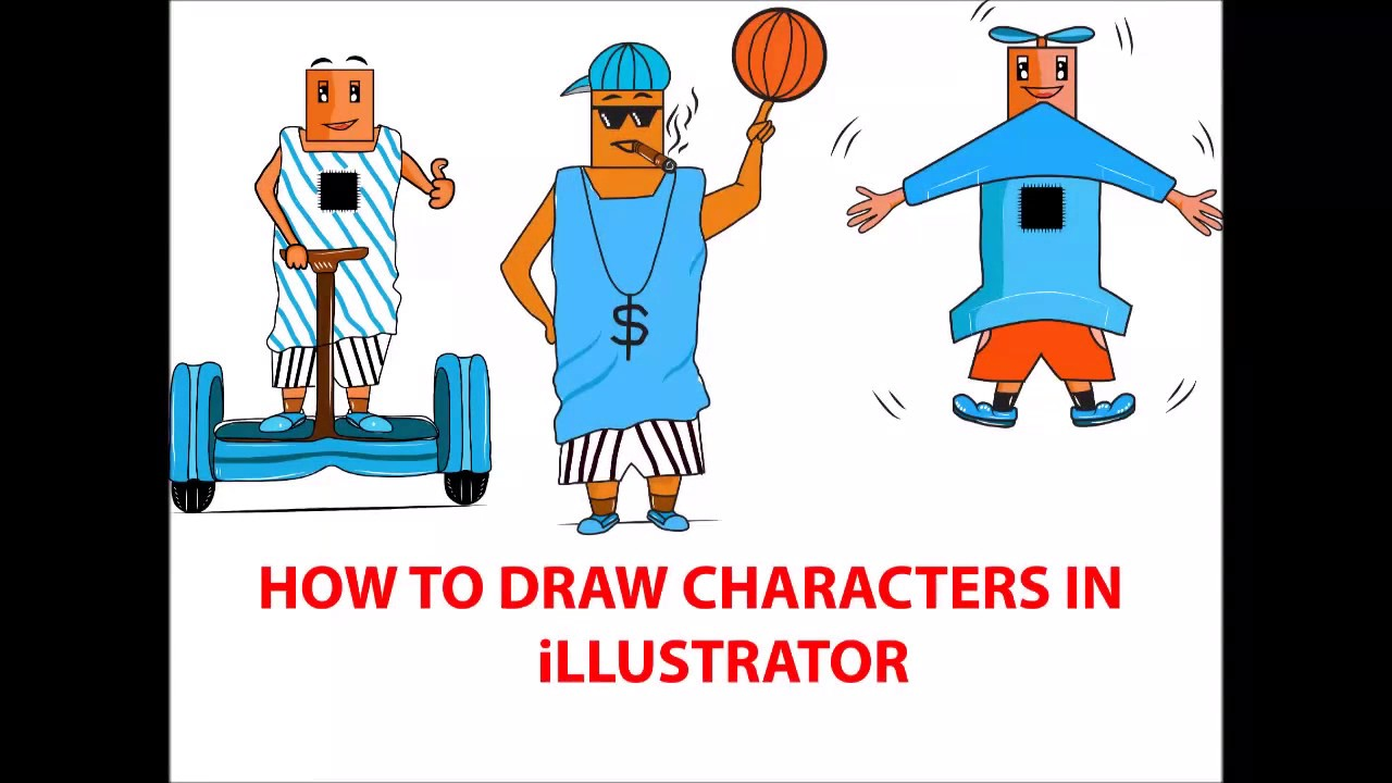 How To Draw Characters In Adobe Illustrator