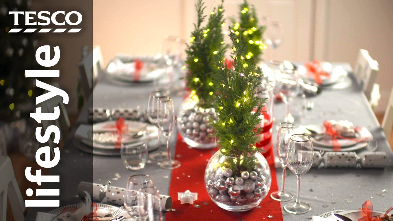 how to dress your christmas table tesco