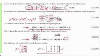 Eksempel: Omformning af 3. ordens differentialligning til system af 1. ordens differentialligninger