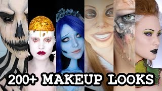 Download 1 GIRL 200 HALLOWEEN MAKEUP LOOKS Mp3 and Videos
