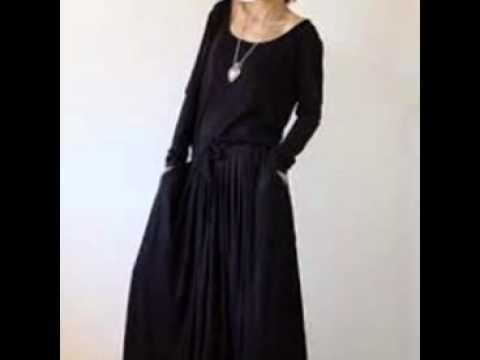 Black Cotton Maxi Dress - YouTube