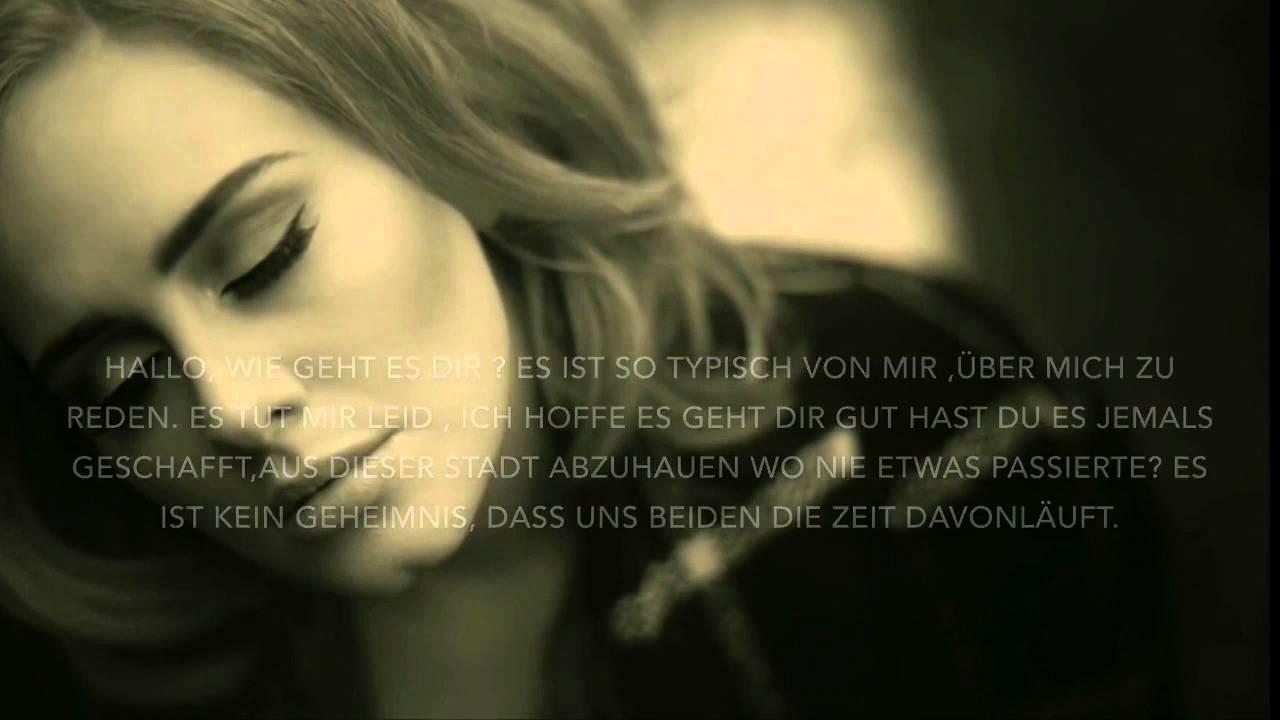 Adele Hello Auf Deutsch Lycris Youtube