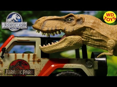 New Jurassic World Chomping T-REX TYRANNOSAURUS REX 2015 Unboxing, Review By WD Toys