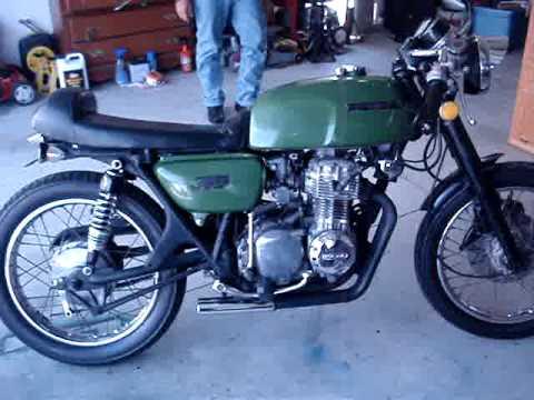 Honda Cb Cafe Racer >> Cafe Racer 1973 Honda CB 350F 350 Four - YouTube