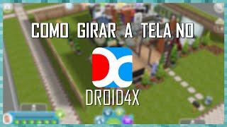 Como girar a tela do The Sims FreePlay no DROID4X