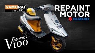 Project Repaint Suzuki V100 - Samurai Paint Malaysia