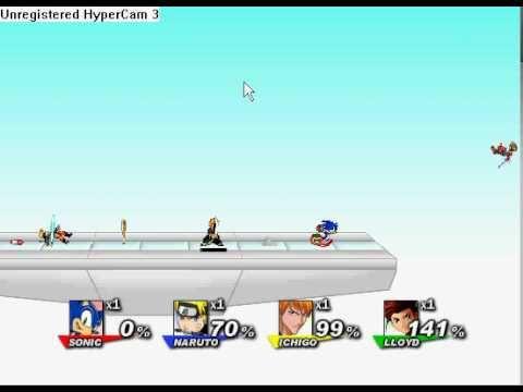 Super smash flash 2 sonic vs ichigo vs naruto vs lloyd youtube