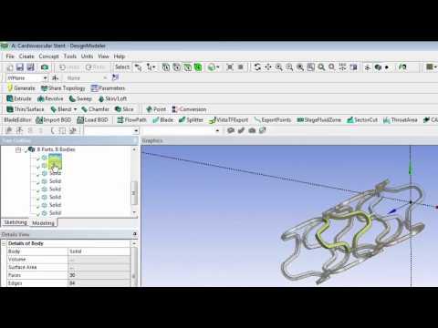 Cardiovascular Stent - Geometry Creation