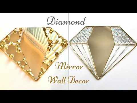How To Make a Diamond Mirror Wall Decor| Inexpensive Wall Decorating idea!