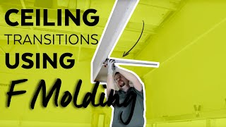 Ceiling Transitions Using F Molding   How to   Armstrong Ceiling Solutions