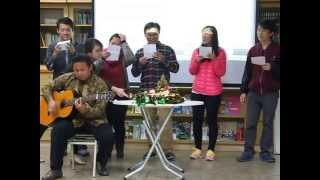 20141207 ticc Christmas party   song by indonesian students