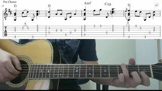 Nothing's Gonna Change My Love For You - Fingerstyle Guitar Playthrough Tutorial Lesson With Tab