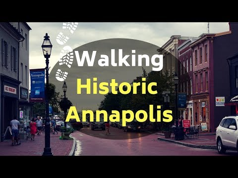 Walking the streets and alleyways of Historic Annapolis MD