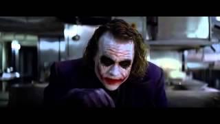 Batman il cavaliere oscuro -  Joker  scena della matita nell'occhio
