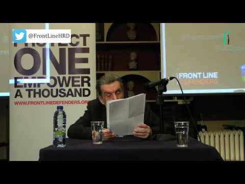 2016 Annual Front Line Defenders Lecture - Jan Sokol