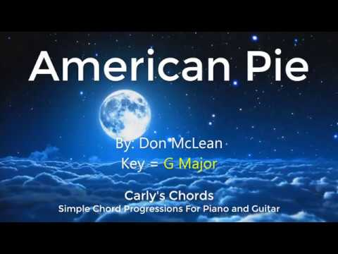 American Pie Don Mclean Chords Key G Maj Youtube