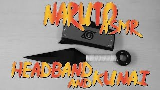ASMR Unboxing Naruto HeadBand and Kunai | ASMR Crinkle Sounds
