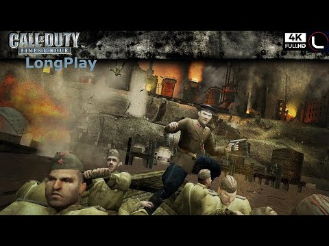 PS2 - Call Of Duty: Finest Hour - LongPlay [4K:60FPS]