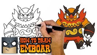 How to Draw Emboar | Pokemon