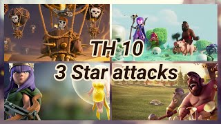Lava Loon + Hog Rider 3 Star War Attack | TH 10 |  balloons | lava hound | COC 2018 CW