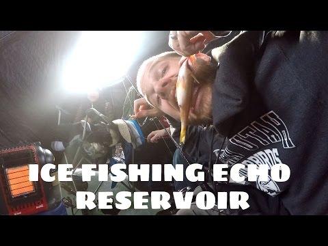 UTAH ICE FISHING AT ECHO RESERVOIR!!