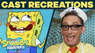 The Cast Recreates Your Favorite Scenes AGAIN! 🤩 Bonus Trivia | #SpongeBobSaturdays