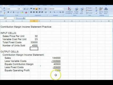 HighLow Method  Contribution Margin Income Statement  Youtube