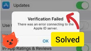 """How To FIx""""Verification Failed There was an error connecting to the apple id server 2018."""
