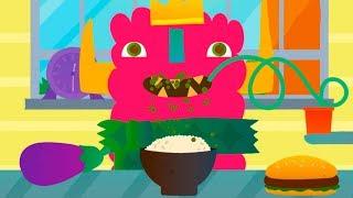 ГОТОВКА ЧЕЛЛЕНДЖ #32 Маленький монстр кушают и ходит в школу. Игра для детей #ПУРУМЧАТА