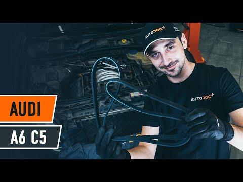 How to change serpentine belt onAUDI A6 C5 Avant[TUTORIAL AUTODOC]