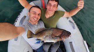 Eşkina Balığı ile Taş Altında Zorlu Mücadele ! - Eşkina ile Ekşili Tarifi.
