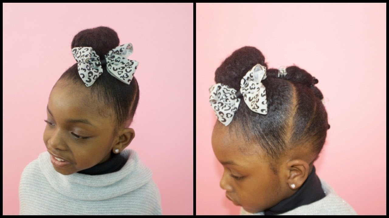 Natural hair kids: Protective style/ type 4C natural hair