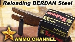 SHTF: Reloading Steel Case berdan ammo with regular primers in a pinch. 7.62x39 Tulammo Wolf