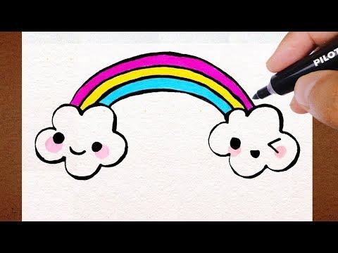 Como Desenhar Nuvens Kawaii How To Draw Desenho
