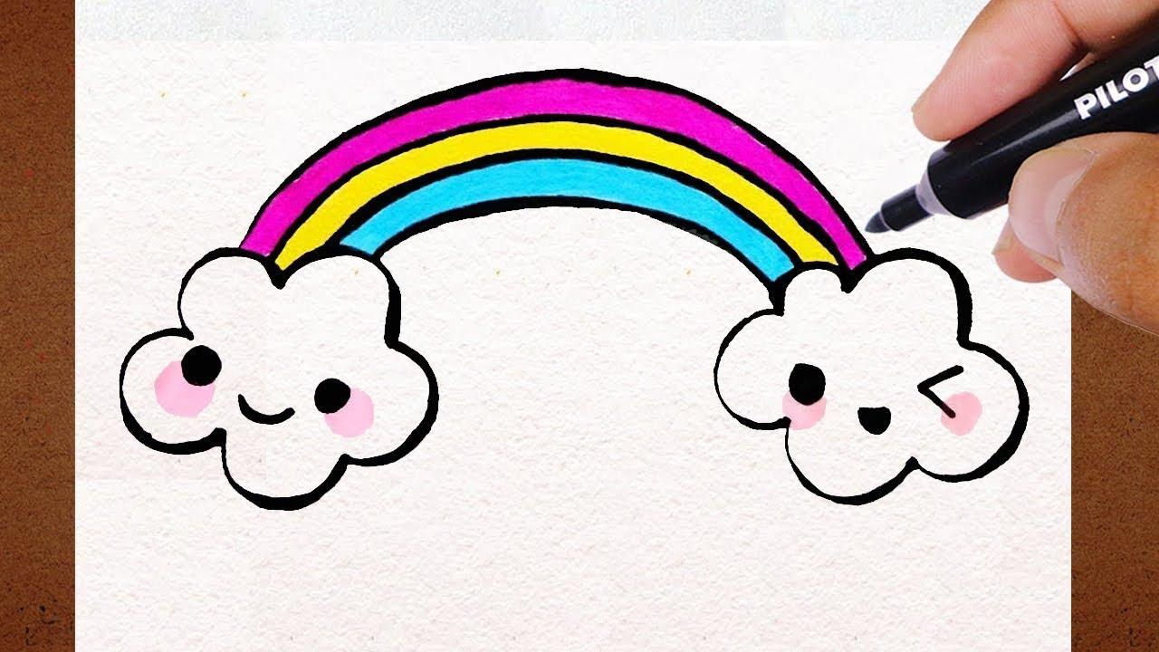 Como Desenhar Nuvens Kawaii , How To Draw