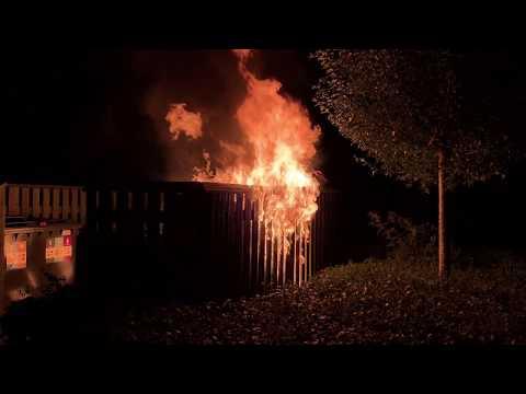 Brand i container på Klostergade i Slagelse