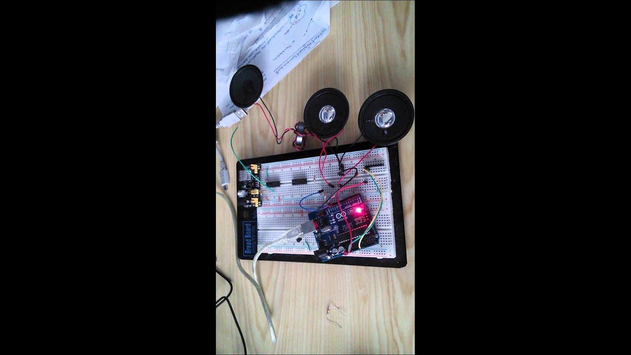 Arduino Musikwiedergabe über 3 Lautsprecher - YouTube