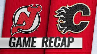 Gaudreau's six-point night powers Flames past Devils