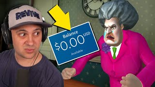 Hello Neighbor's Sister Is RICH And I'm Giving Away ALL HER MONEY! | Scary Teacher 3D