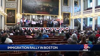Immigration rally at Faneuil Hall responds to new policy proposal