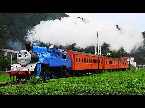 A Life-Size Thomas the Tank Engine Cruises through Japan