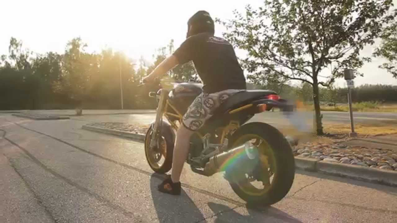 Ducati Monster 600 Leo Vince Exhaust Sound Youtube