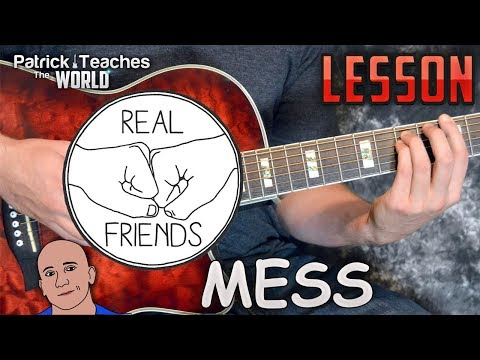 Real Friends-Mess-Guitar Lesson-Tutorial-How to Play-Chords-Tabs