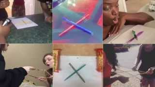 Charlie Charlie Challenge Playing Pencil Game - Vine Compilation! (RAW VIDEO)
