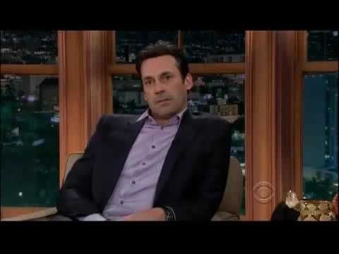 Mad Men Jon Hamm Outwitting Craig Ferguson : Id put your pipe in my mouth
